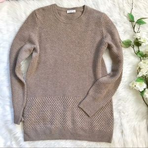 Equipment Wool/Cashmere Tan Knit Crew Sweater